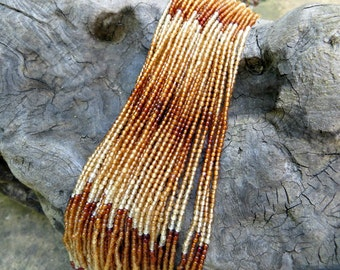"Variegated Hessonite Garnet Beads 2mm (16"" strand)"