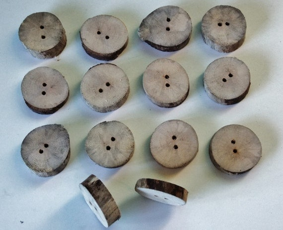 Driftwood buttons for large buuton hole, natural wild effect. Ideal for a homemade rustic item of clothing.
