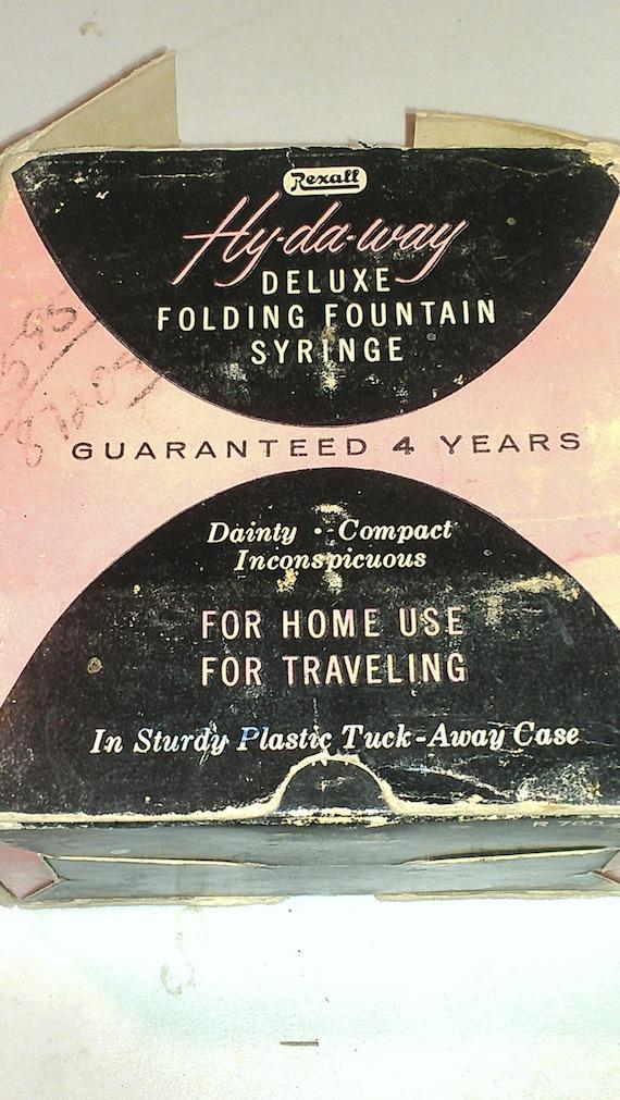 Hy Da Way DeLuxe Folding Fountain Syringe Personal Hygiene