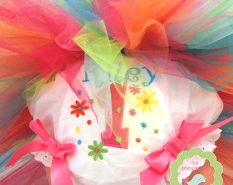 Daisys and Rainbows  Bloomer Personalized for your child (609)