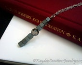 Sterling Silver, Hematite, & Dragons Veins Agate Necklace