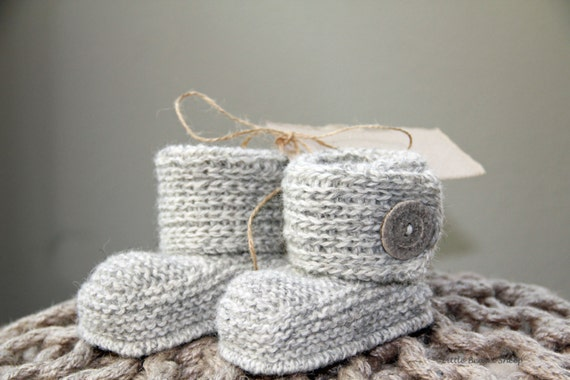 Hand Knitted Handmade Baby Booties Boots Sizes 0-12 M