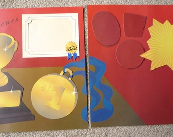 New- TWO 12 X 12 Pre-Made Scrapbook Pages Our Milestones