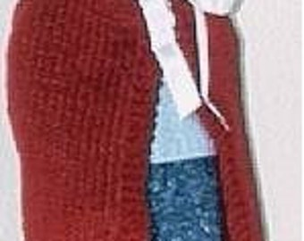Little Red Riding Hood Cape for American Girl, Bitty Baby and Other 15-18 Inch Dolls Christmas Gift KNITTING PATTERN Instant Download