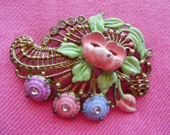 Vintage Enameled Brooch
