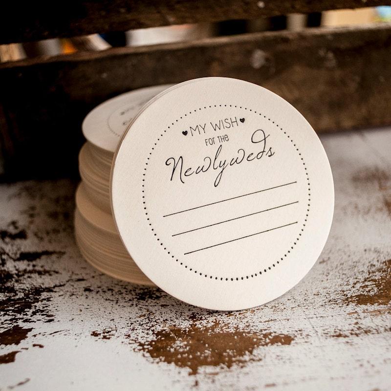 Wedding Advice Coasters wish for the newlyweds weddings