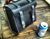 Handmade leather motorcyle sissy bar bag