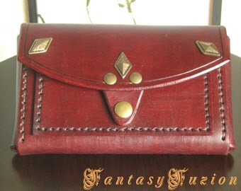 Victorian Medieval Classy Leather Pouch Case Wallet