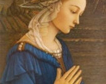 Virgin Mary pendant - Madonna della Roccie by Fra Filippo Lippi - FREE SHIPPING