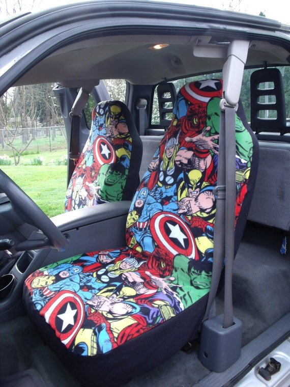 Items Similar To 1 Set Of Marvel Comic Print Car Seat