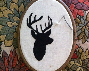 Antler Cross Stitch Pattern