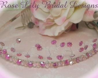 Daisy - crystal and  glass flower tiara