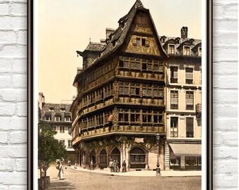 Vintage Photo of Strasbourg, Alsace 1895