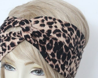 Very Cute twisted Headband leopard print   great accessory for your outfit