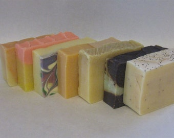Set of 4 soaps ( your choice) cold process variety
