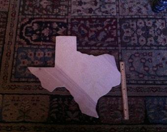 18x18 wood Texas Shape