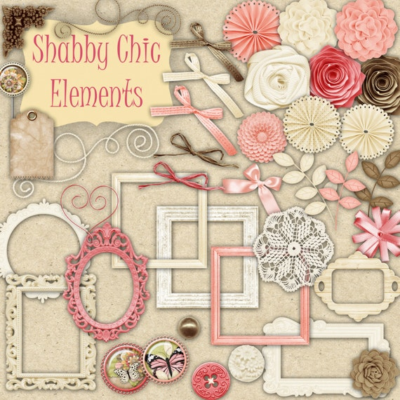 40 Png Shabby Chic Elements Clipart For By