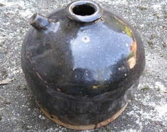 Antique Chinese, Soy Jug, Chinese Ceramic Pottery,Chinese Soy Pot