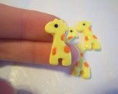 Lot of 10 Adorable Baby Giraffe Cabochons for DIY Projects, Phonecase Deco, Decoden, Hairbow Centers, Scrapbooking