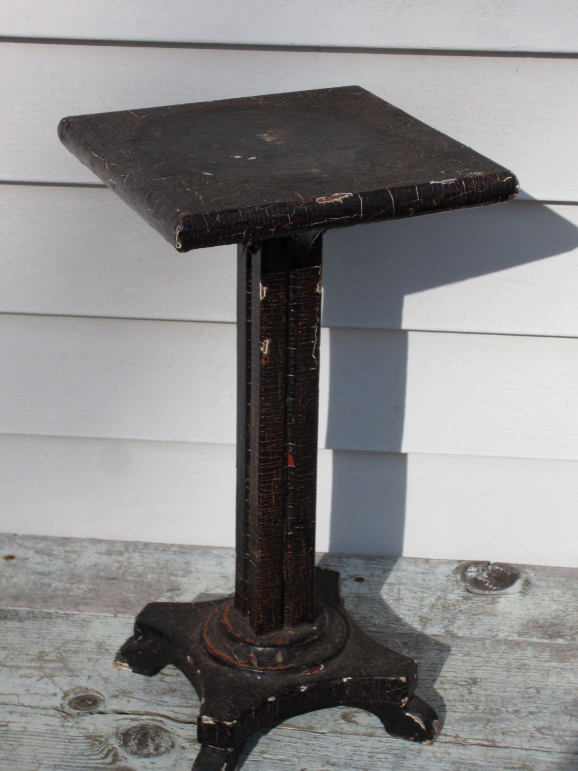 Wonderful image of Vintage wooden pedestal plant stand. Antique by Stoneandwares with #5B4B45 color and 1125x1500 pixels