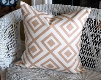 "Lee  Jofa La FIORENTINA  Pillow Cover in Camel, Accent Pillow, Toss Pillow, Throw Pillow 20"" sq."