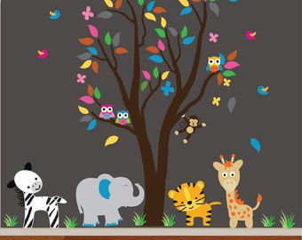 Nursery Tree RESUABLE Wall Decal - 986