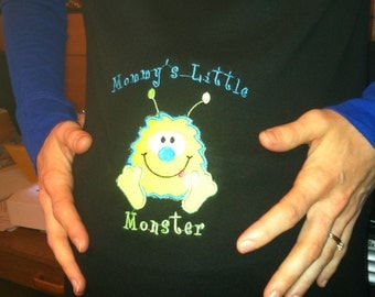 Mommys little monster Maternity shirt or onesie