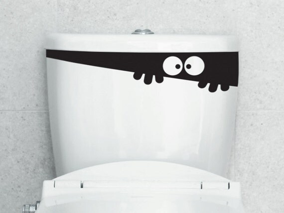 Items similar to Toilet Monster PeekABoo  Decal on Etsy