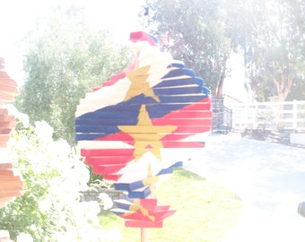 Red, White, and Blue Wind Spinner