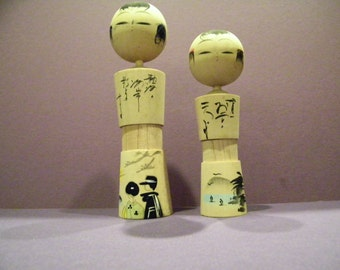 Wood KOKESHI Japanese Children