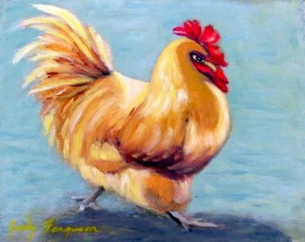 "Original oil Painting of a Rooster entitled ""STRUTTIN""'"