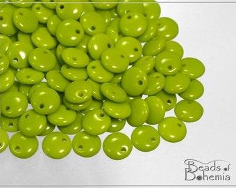Opaque Olive Czech Lentil Beads 6 mm, 50 pcs (7470)