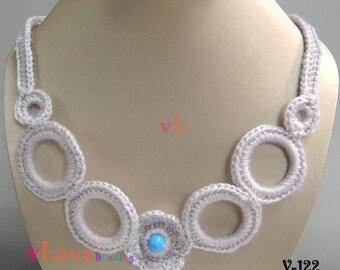 Crochet Flower Necklace (V-122)
