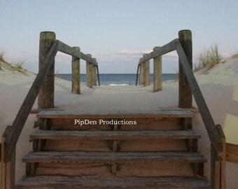 Beach Art, Photography, Entrance Way, Lavallette, NJ 12-0014, Shoreline, Summer Cottage, PipDen Productions, Beach Art, Summer, Seascape