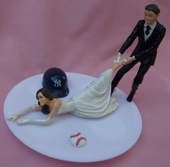 new york themed wedding cake toppers wedding cake topper new york yankees ny g baseball by wedset 17834
