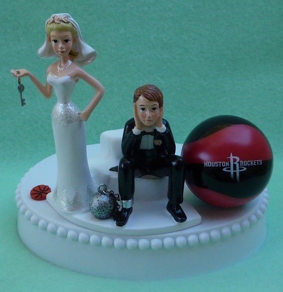 wedding cake toppers in houston tx wedding cake topper houston rockets basketball themed and 26508