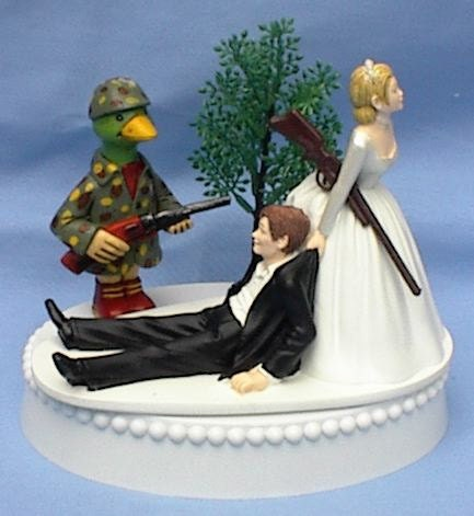 hunting themed wedding cake toppers wedding cake topper duck rifle themed w bridal 16212