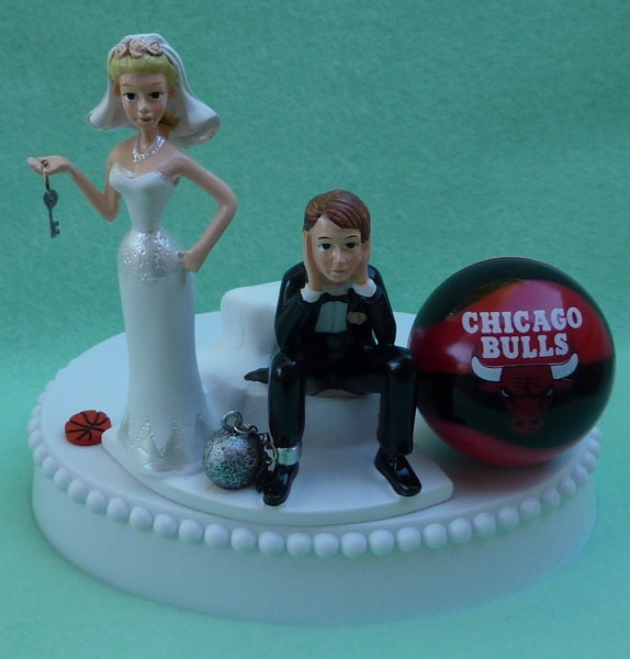basketball wedding cake toppers wedding cake topper chicago bulls basketball themed and 11106