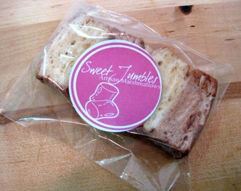 Marshmallow Party Favors - individually wrapped - 1 dozen packages of Gourmet homemade marshmallows