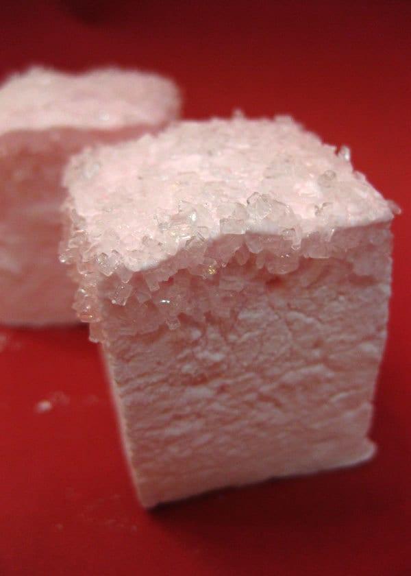 Strawberry Champagne Marshmallows 1 Dozen Gourmet Homemade
