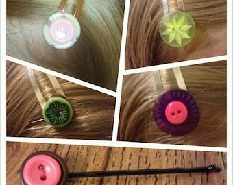 Button clips/bobbypins