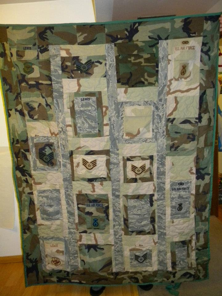 Military Quilts Out Of Uniforms For Melissa