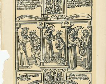 "Vintage Encyclopedia Engraving ""Biblia Pauperum"""