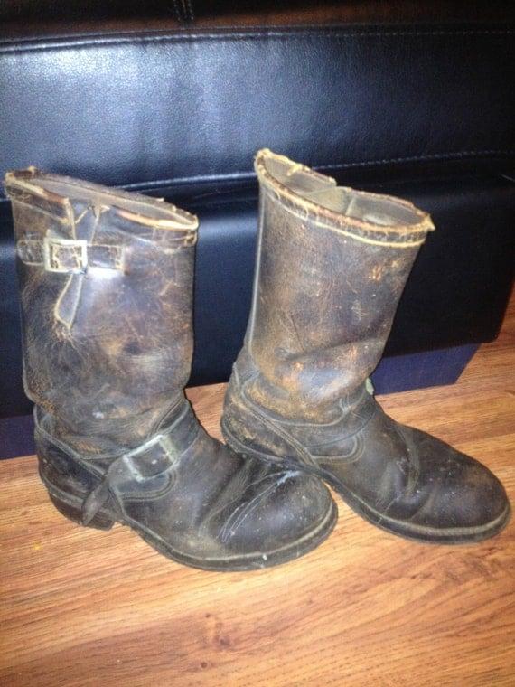 1940's Chippewa Engineer Biker Boots men's size 6