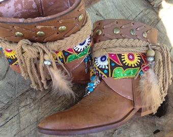 Gypsy Boho Southwestern Native American Cowgirl Boot Sante Fe Sally Boots