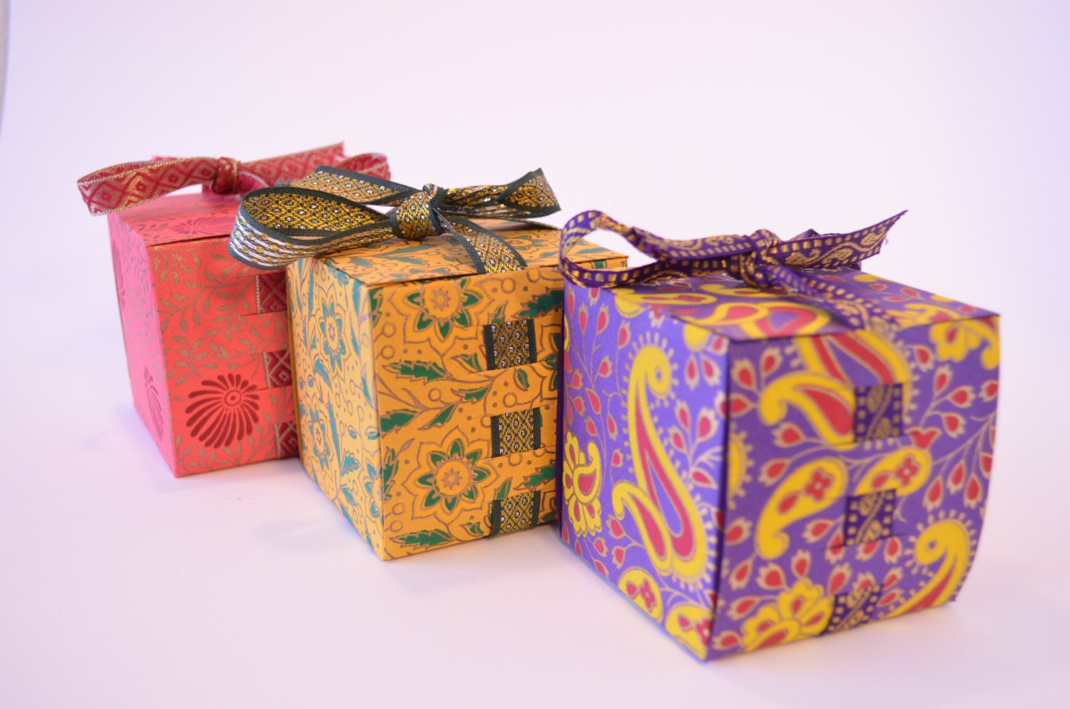 Indian Wedding Gift Box : Gift Box with Ribbon Wedding Gift box Indian by PenandFavor