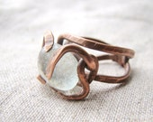 Wire ring - unusual brown ring