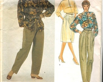 Gianni Versace 80s Pattern / 2756 / Blouse Skirt Pant / Size 8