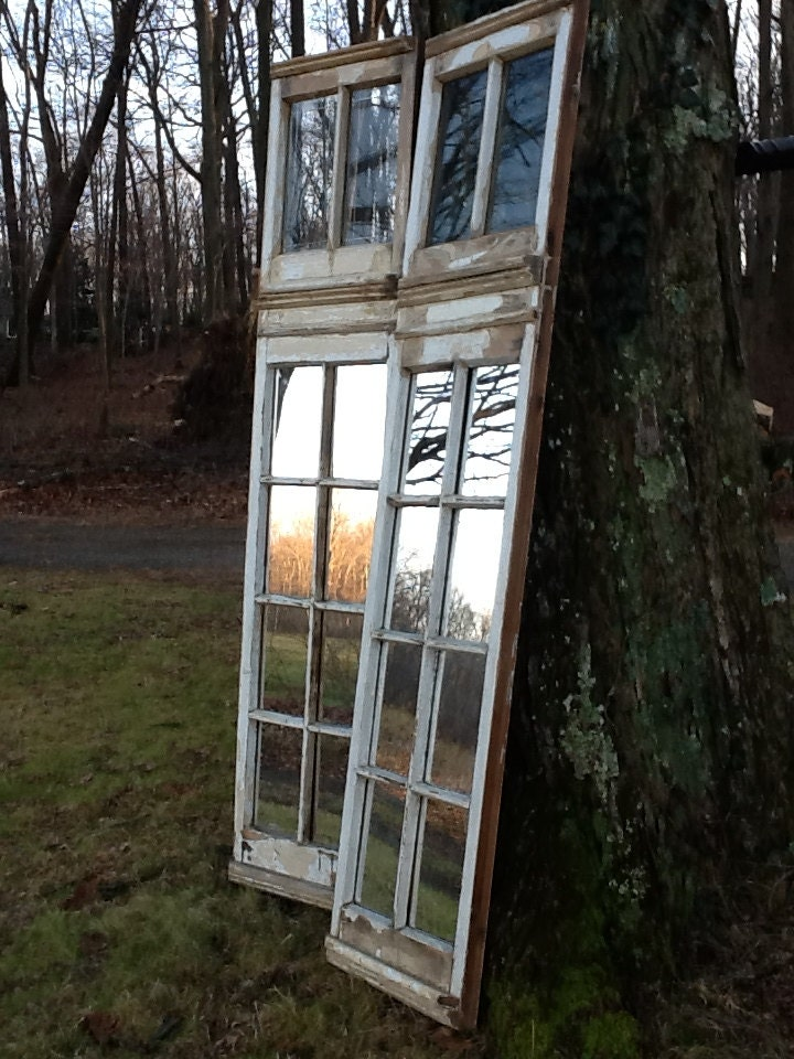 Vintage Restored Window Panels Mirrors Installed Lower