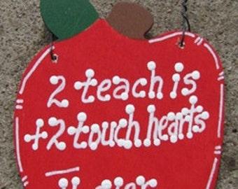 Teacher Gifts A9500 2 Teach is 2 Touch Hearts
